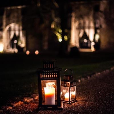 Mariage en hiver, photo de décoration, les pommerieux à busancy de nuit