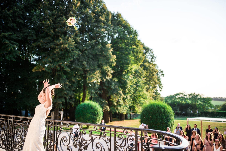 Lancé du bouquet au Château de Santeny