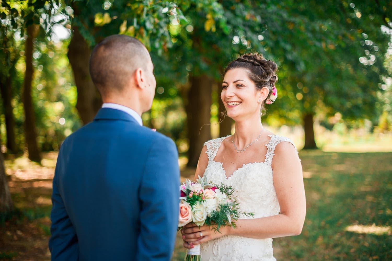 Découverte des mariés émotions