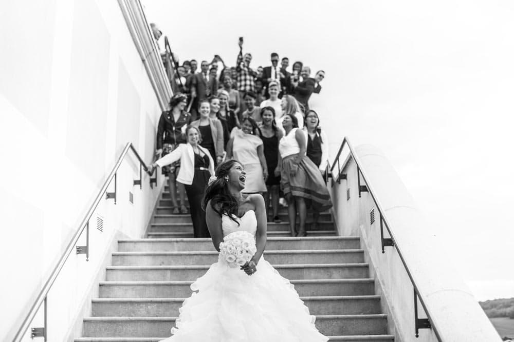Mariage de Joséphine & Thomas, lancé du bouquet