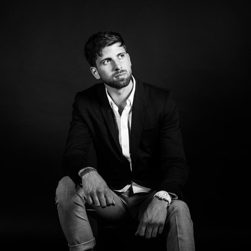 Shooting expérience client, photo portrait en studio