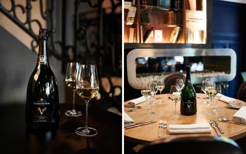 Champagne Canard-Duchêne cuvée V Continental à Reims