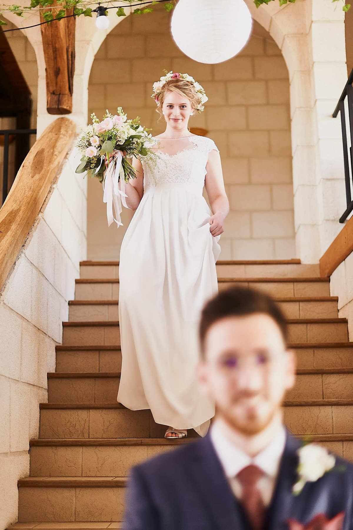 Premiers regards des mariés