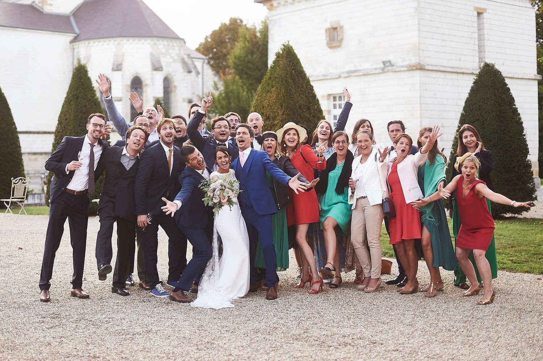 Photo de groupe au château de Vitry-la-Ville