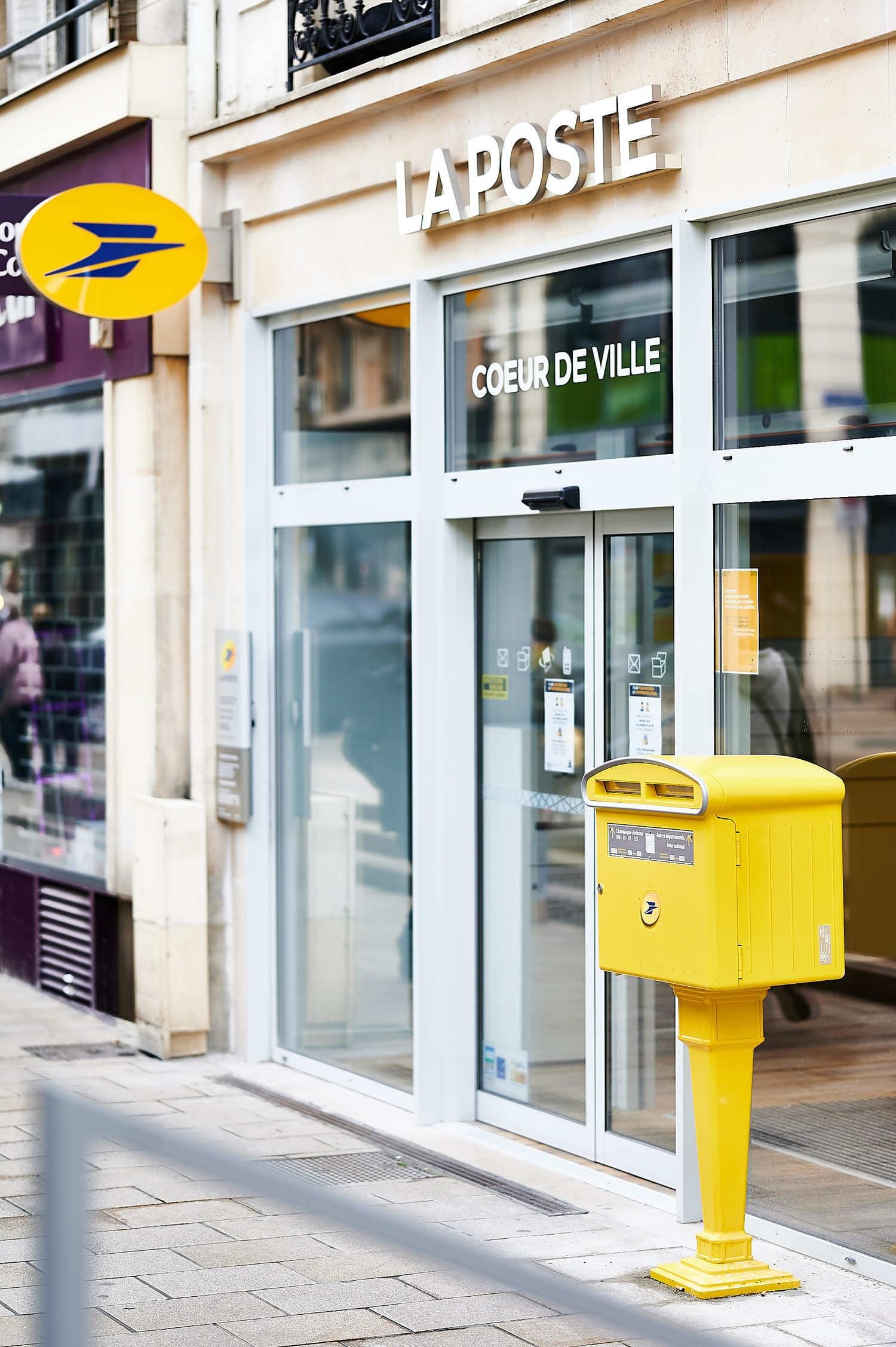 Bureau de poste coeur de ville Reims