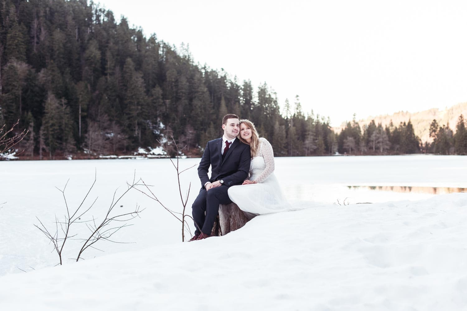 Day after, photos de mariage, Lac des corbeaux
